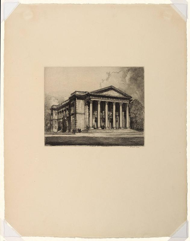 "Chapin Hall (from ""Six Etchings of Williamstown"")"