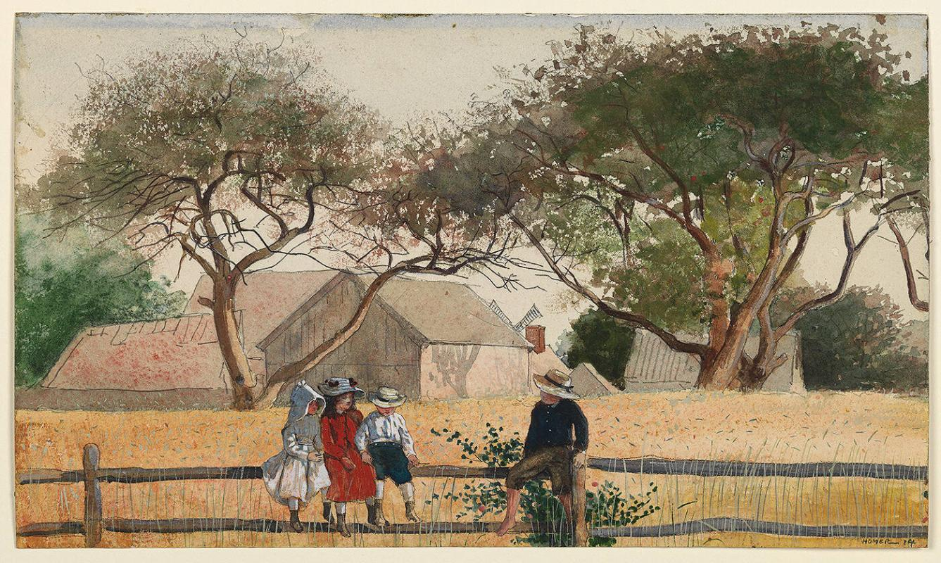 Children on a Fence