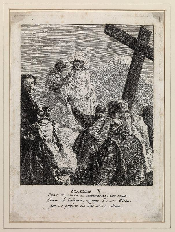 The Tenth Station of the Cross: Christ Disrobed