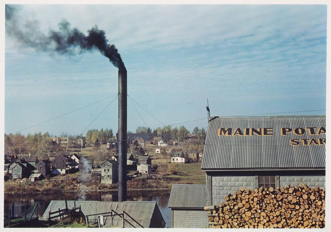 A starch factory along the Aroostook River, Caribou, Aroostook County, ME