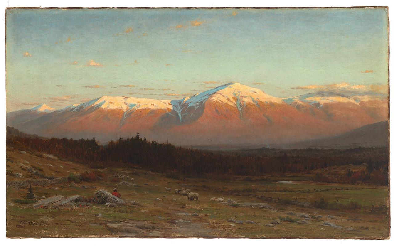 Landscape, Lafayette Range-- White Mountains at Sunset