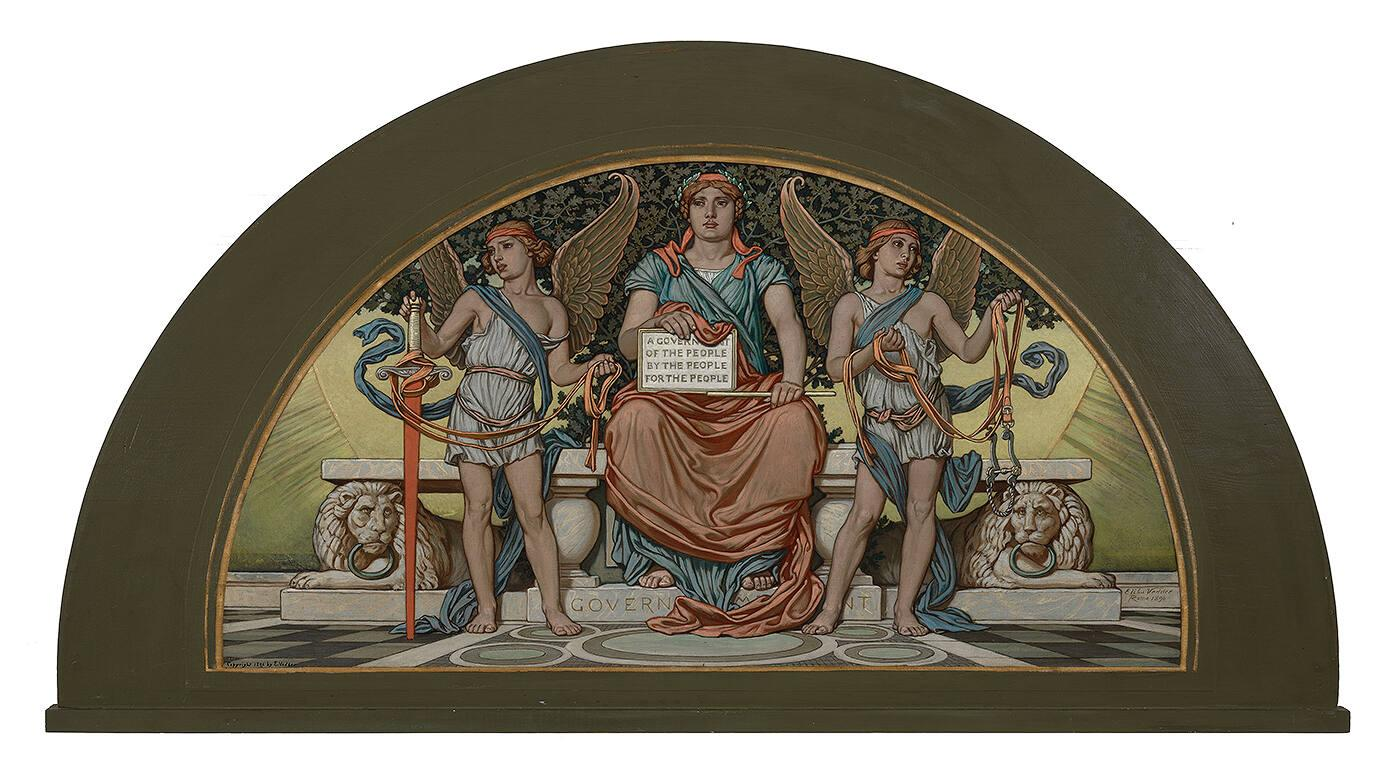 Study for Lunette in Library of Congress: Government