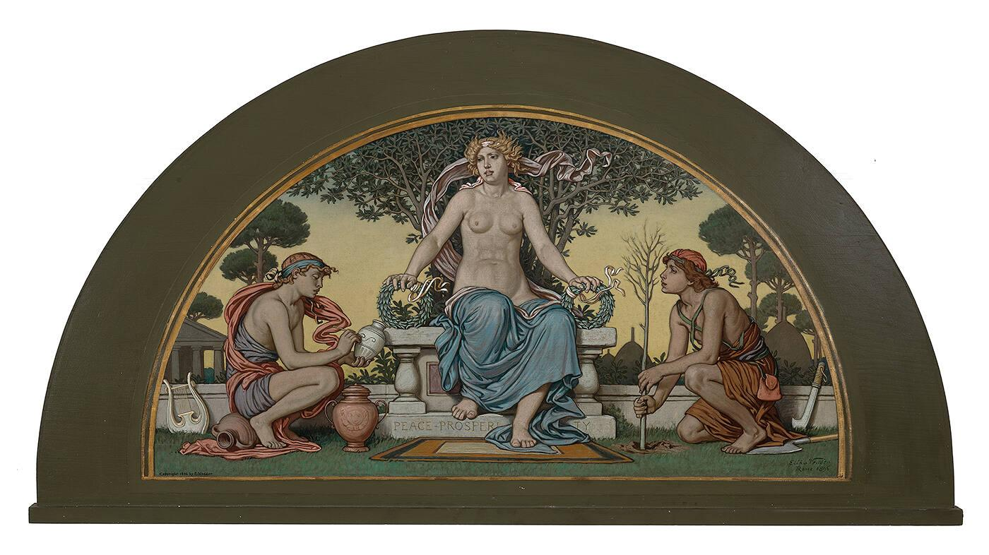 Study for Lunette in Library of Congress: Peace-Prosperity