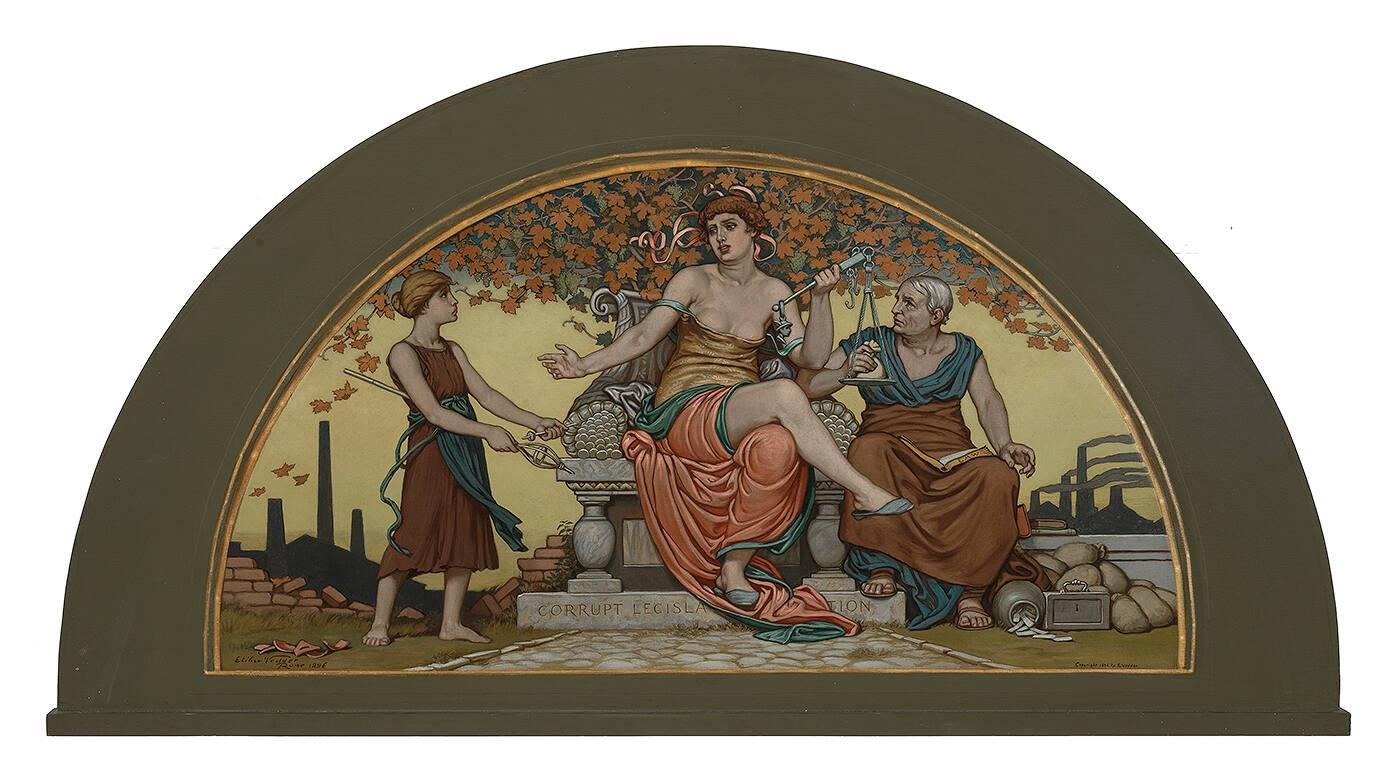 Study for Lunette in Library of Congress: Corrupt Legislation