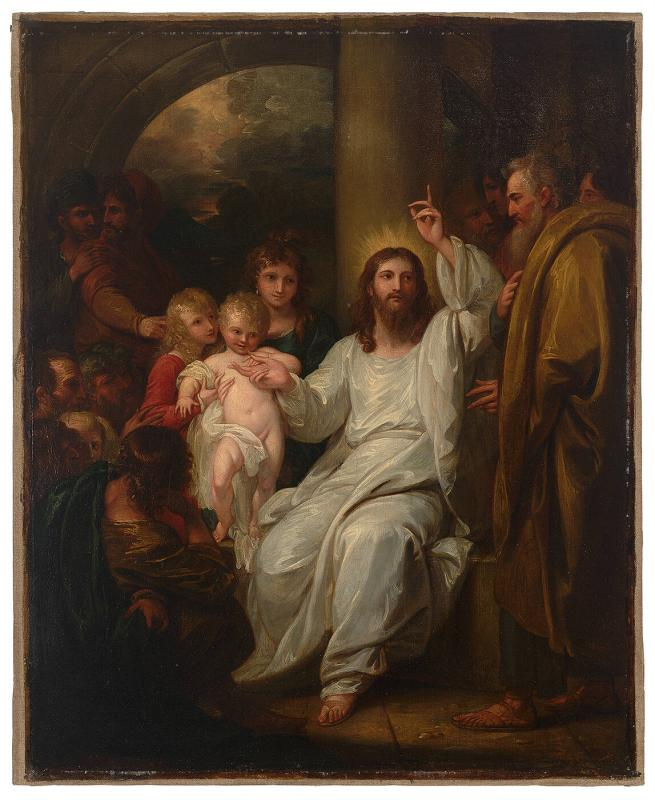Christ Showing a Little Child as the Emblem of Heaven