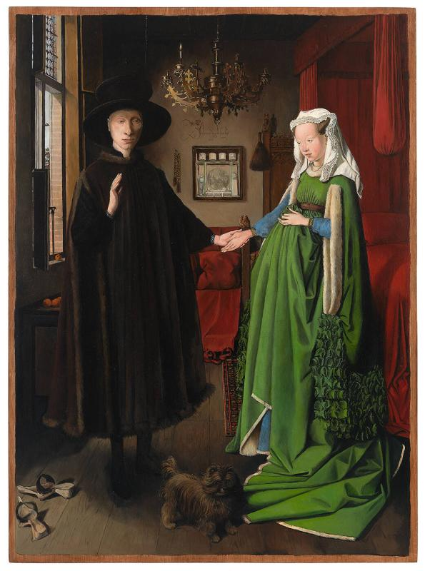 Marriage of Arnolfini, [Restored]