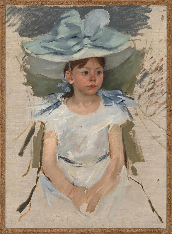 Ellen Mary Cassatt in a Big Blue Hat