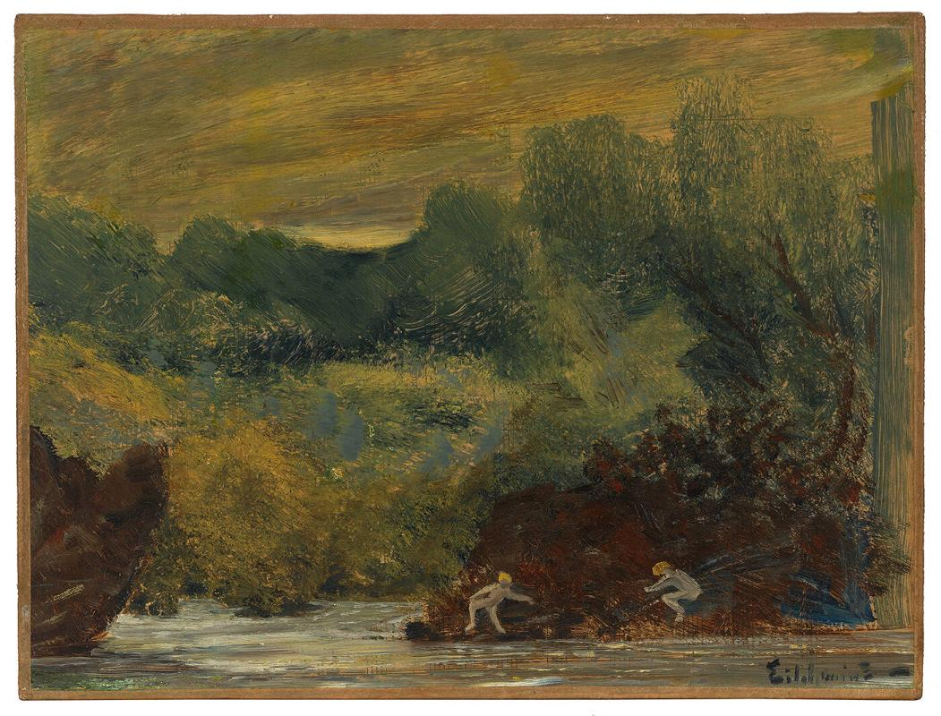 Landscape with Nude Figures by a River