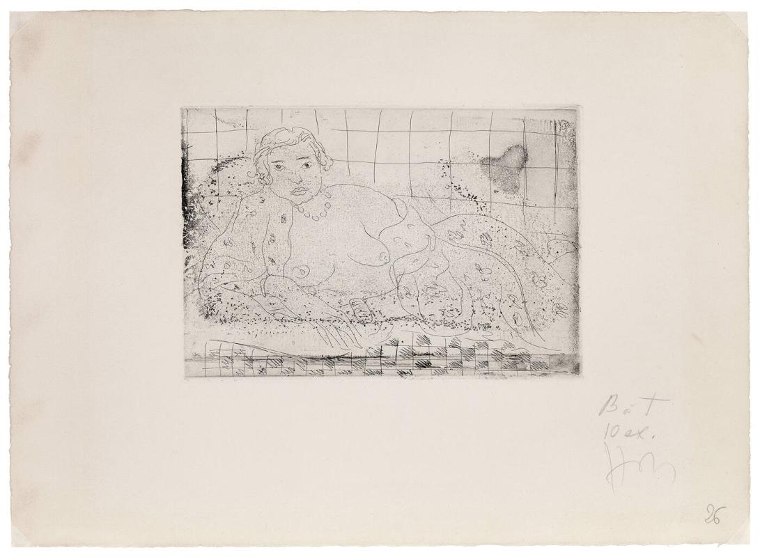 Nu Couche, sol en damier (Nude Reclining on a Checkered Floor)