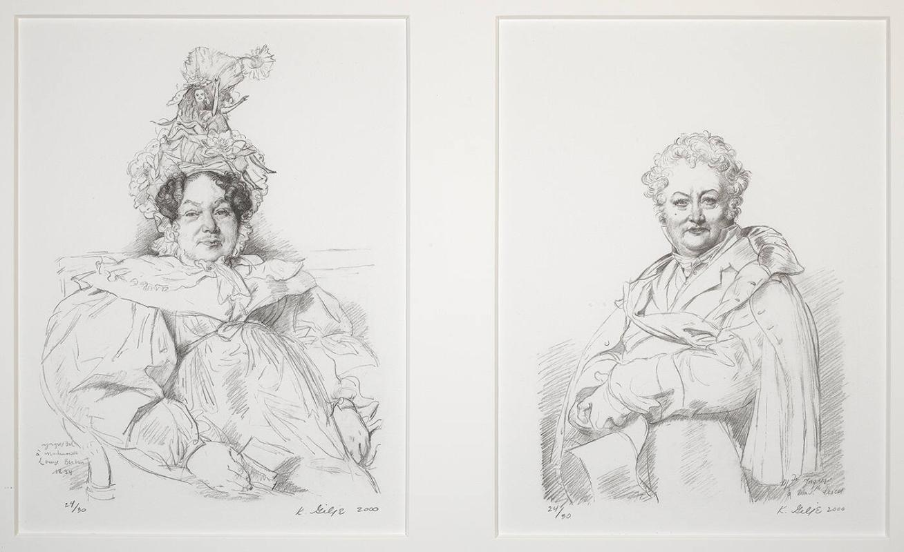 Ingres Drawing, Restored