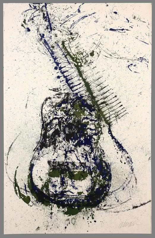 Vertical green, blue and black guitar (from Romantic Suite)