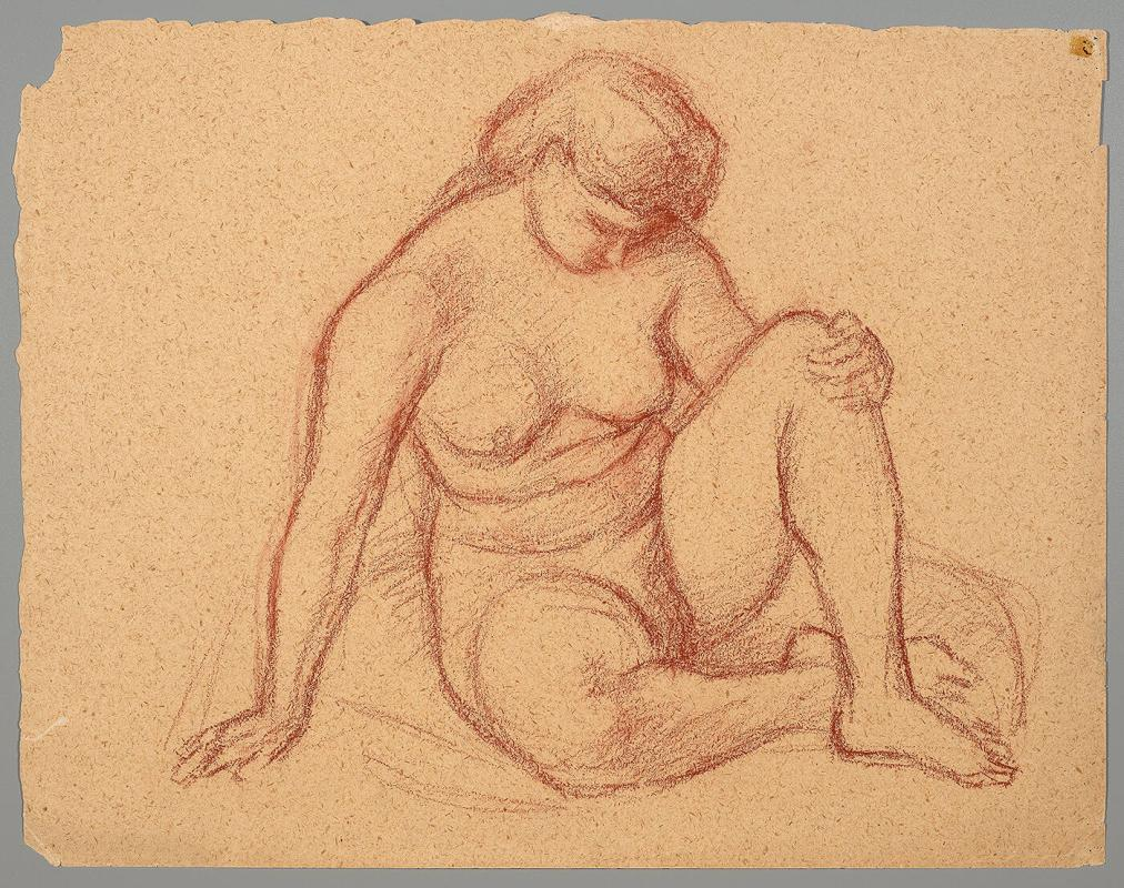 Untitled: seated female nude
