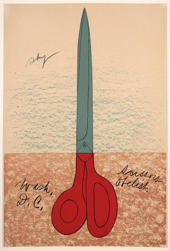 "Scissors Obelisk (from the ""National Collection of Fine Arts Poster Series"")"