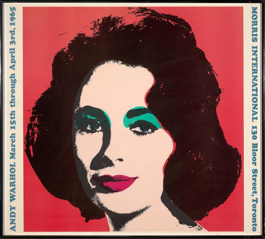 Exhibition poster: Andy Warhol, Morris International, Toronto, March 15-April 3, 1965