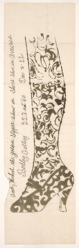 Invitation for the Goldenslipper Show or Shoes Shoe in America, Bodley Gallery December 3-22, 1956