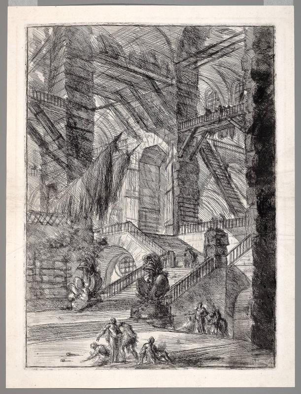 A Vast Interior with Trophies, from the Carceri