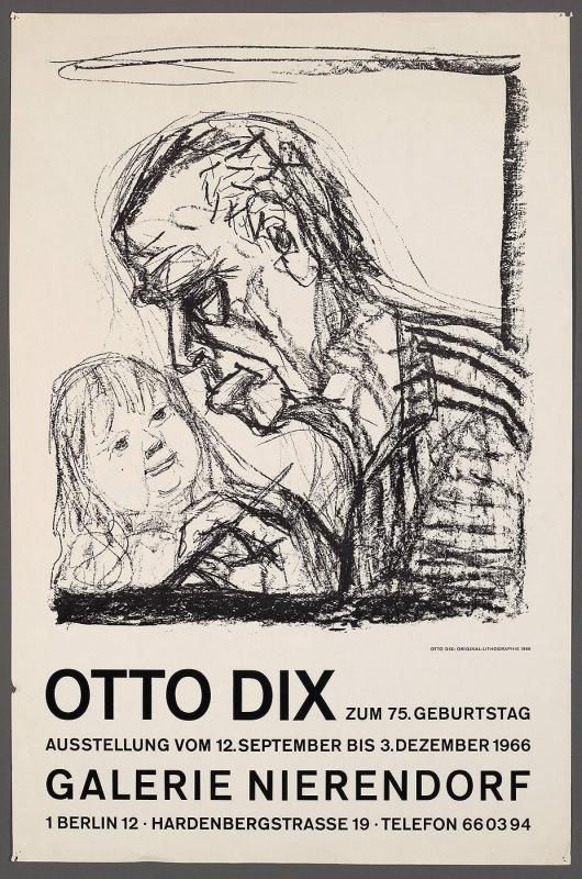 "Poster for ""Otto Dix Exhibition"""
