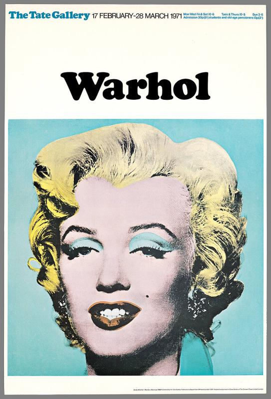 Exhibition poster: Andy Warhol, Tate Gallery, February 17-March 28, 1971