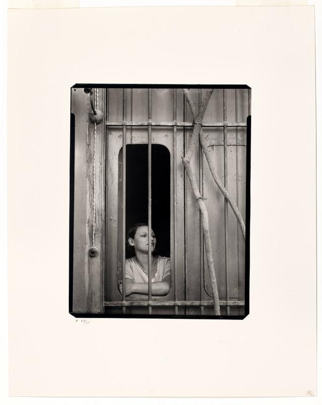 "Girl in window, Havana, 1932 (from ""Walker Evans I"")"