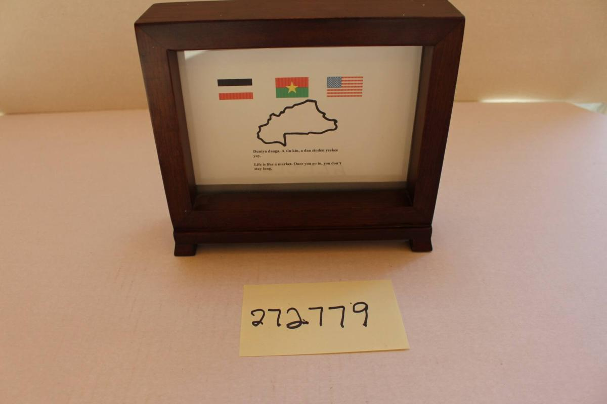 2-sided plaque of one of the first Peace Corps delegations: Upper Volta I delegation, 1967-1969