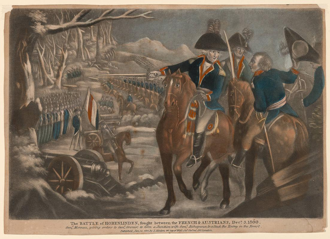 The Battle of Hohenlinden, fought between the French and Austrians, Dec. 3, 1800