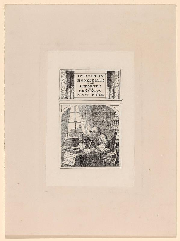 Bookplate: J.W. Bouton, Bookseller