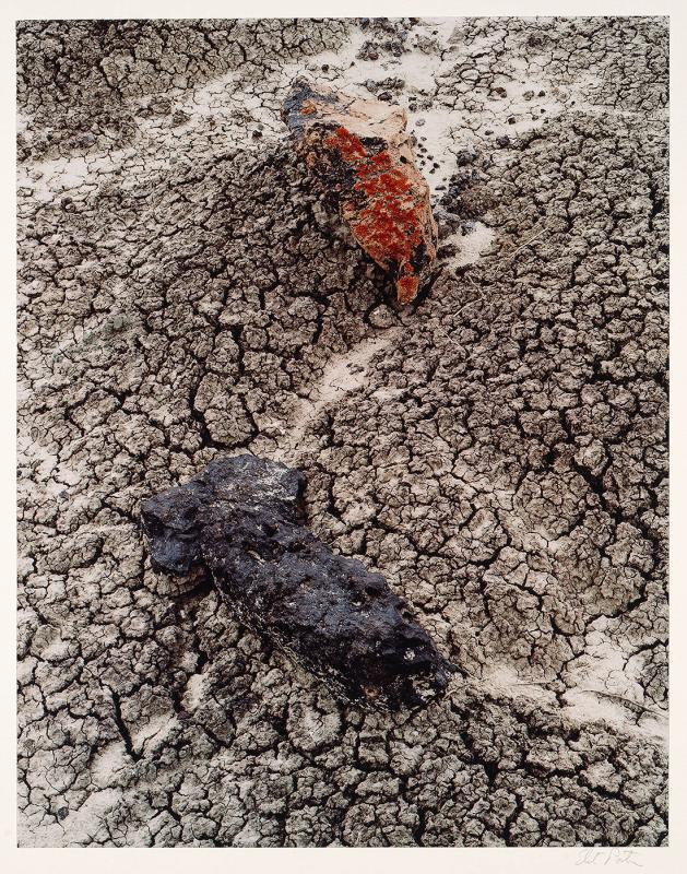 "Stones and Cracked Mud. Black Place, New Mexico. June 9, 1977 (from ""Intimate Landscapes"", 1979)"