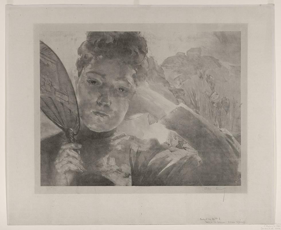 Portrait of Mlle E. (Young Woman with a Fan)
