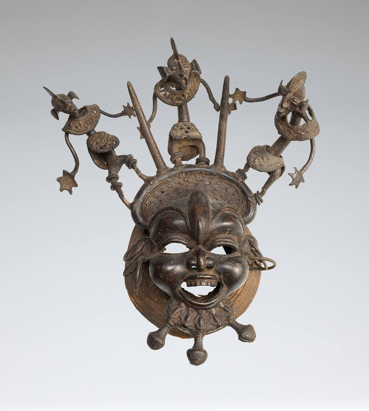 Mask with Three Figures