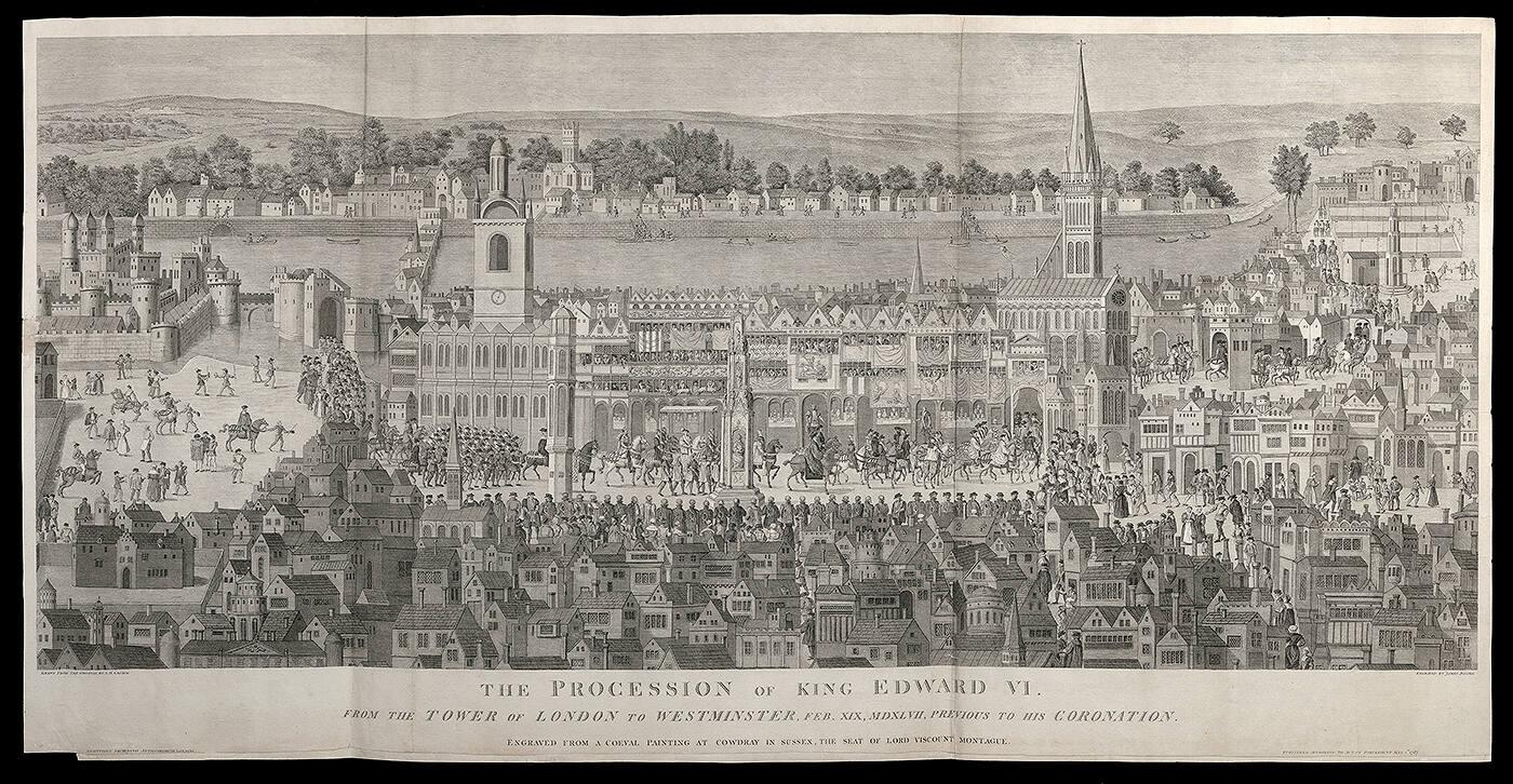 The Procession of Edward VI from the Tower of London to Westminster, Feb. 19, 1547, previous to his Coronation