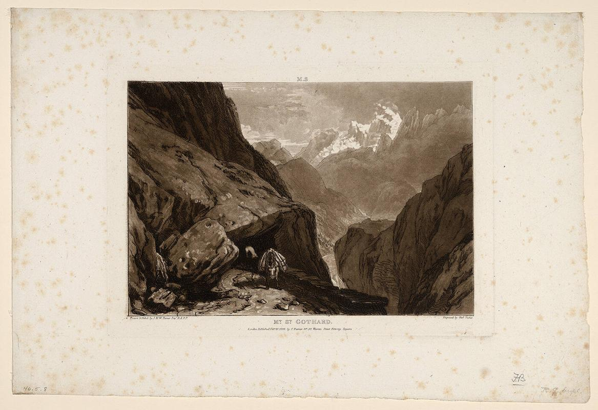 Mt. St. Gothard (from Liber Studiorum)