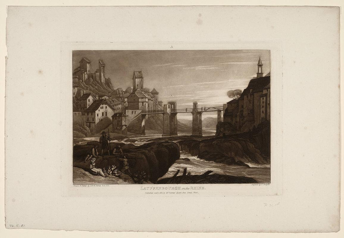 Lauffenbourgh on the Rhine (from Liber Studiorum)