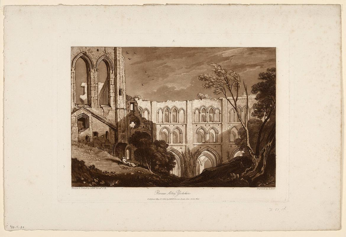 Rivaux Abbey, Yorkshire (from Liber Studiorum)