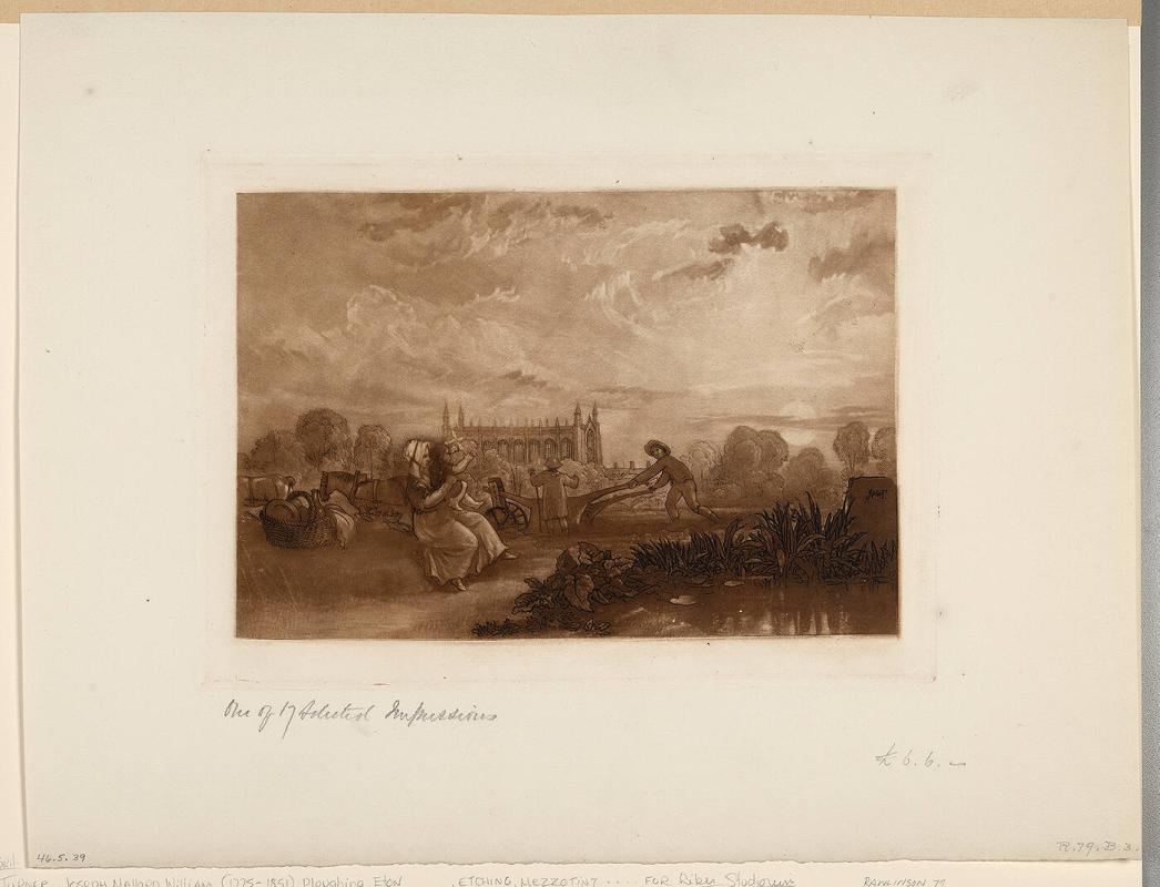 Ploughing, Eton (from Liber Studiorum)