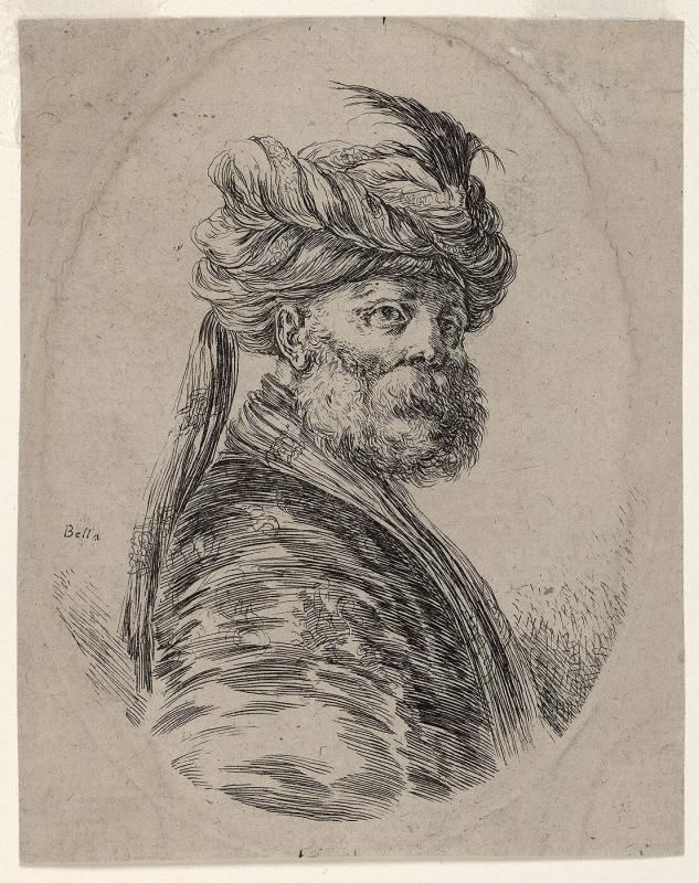 Bust of Man with Persian Headdress