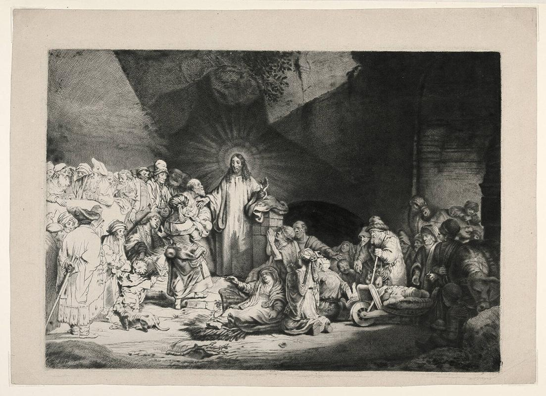 Copy of Rembrandt's 100 Guilder Print