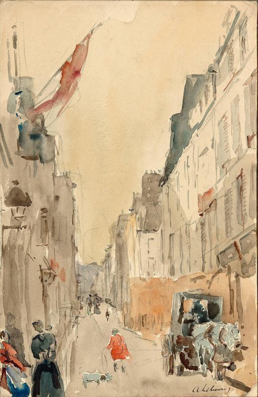 Title unknown: street scene