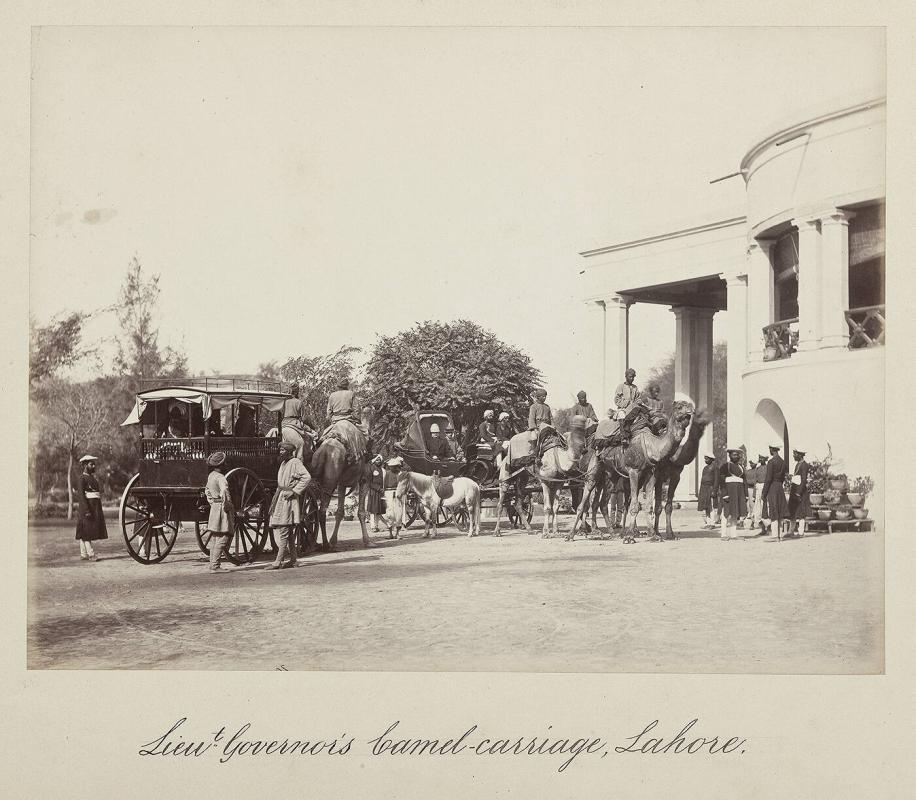 Lieutenant Governor's Camel-carriage, Lahore