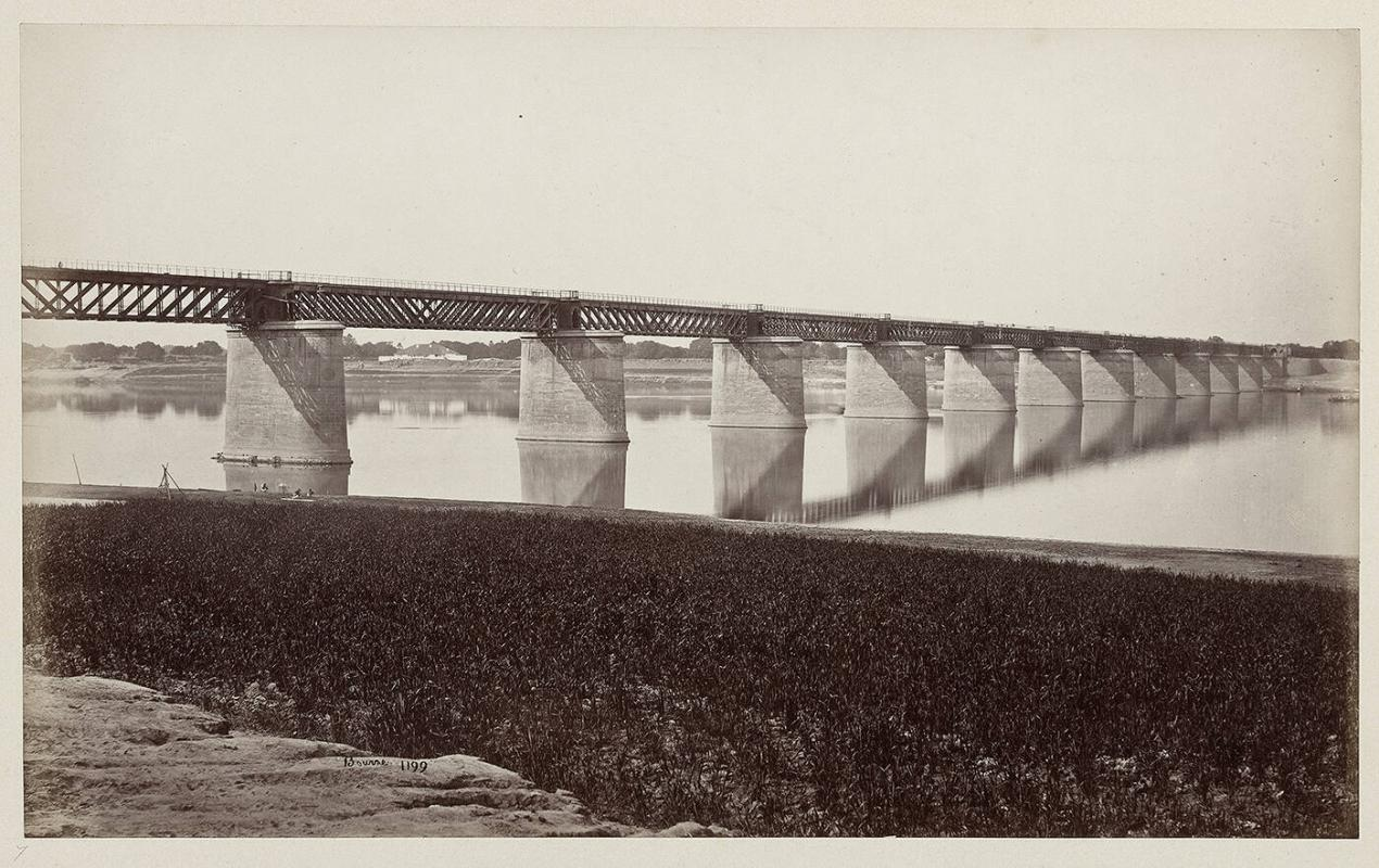 Railway Bridge over Jumna at Allahabad