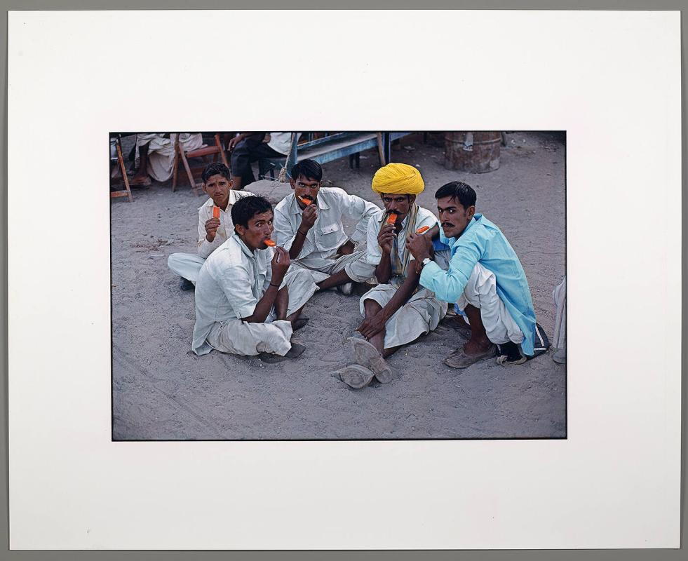 Farmers with popsicles, Jodhpur, Rajasthan