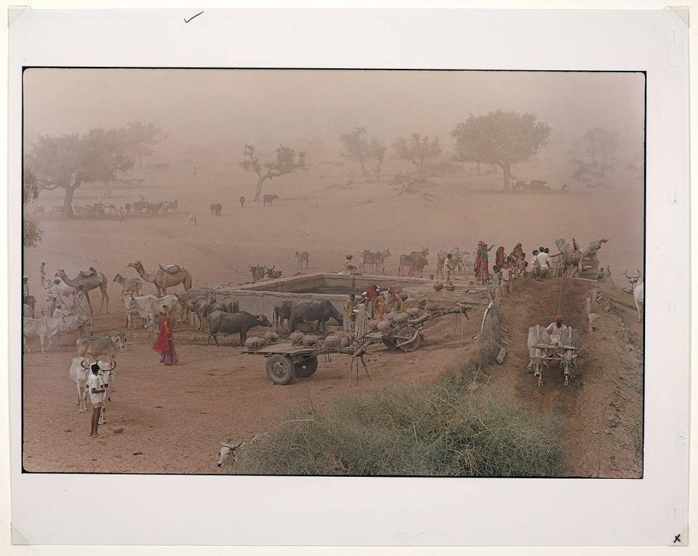 Summer Dust, well scene, Jodhpur dist Rajasthan