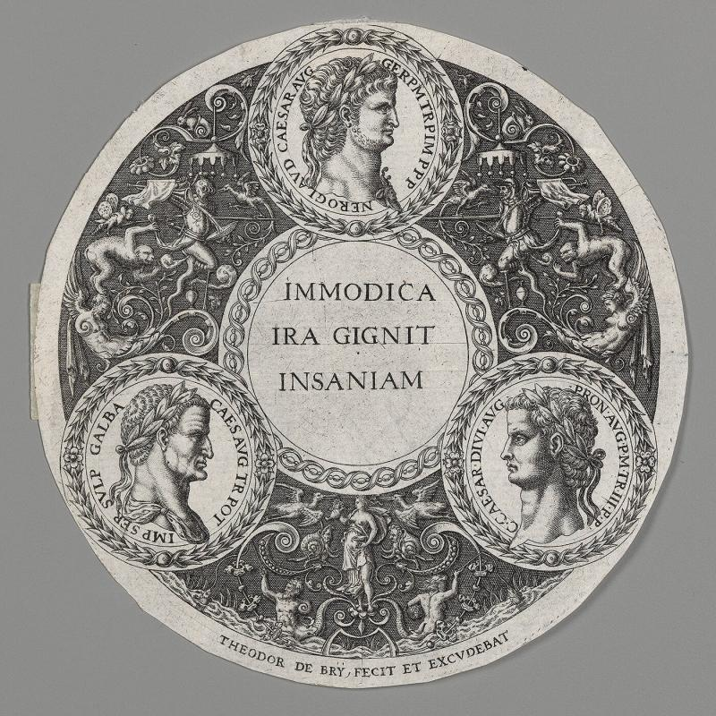 Design for Ornamental Dish with Three Portraits of Roman Emperors
