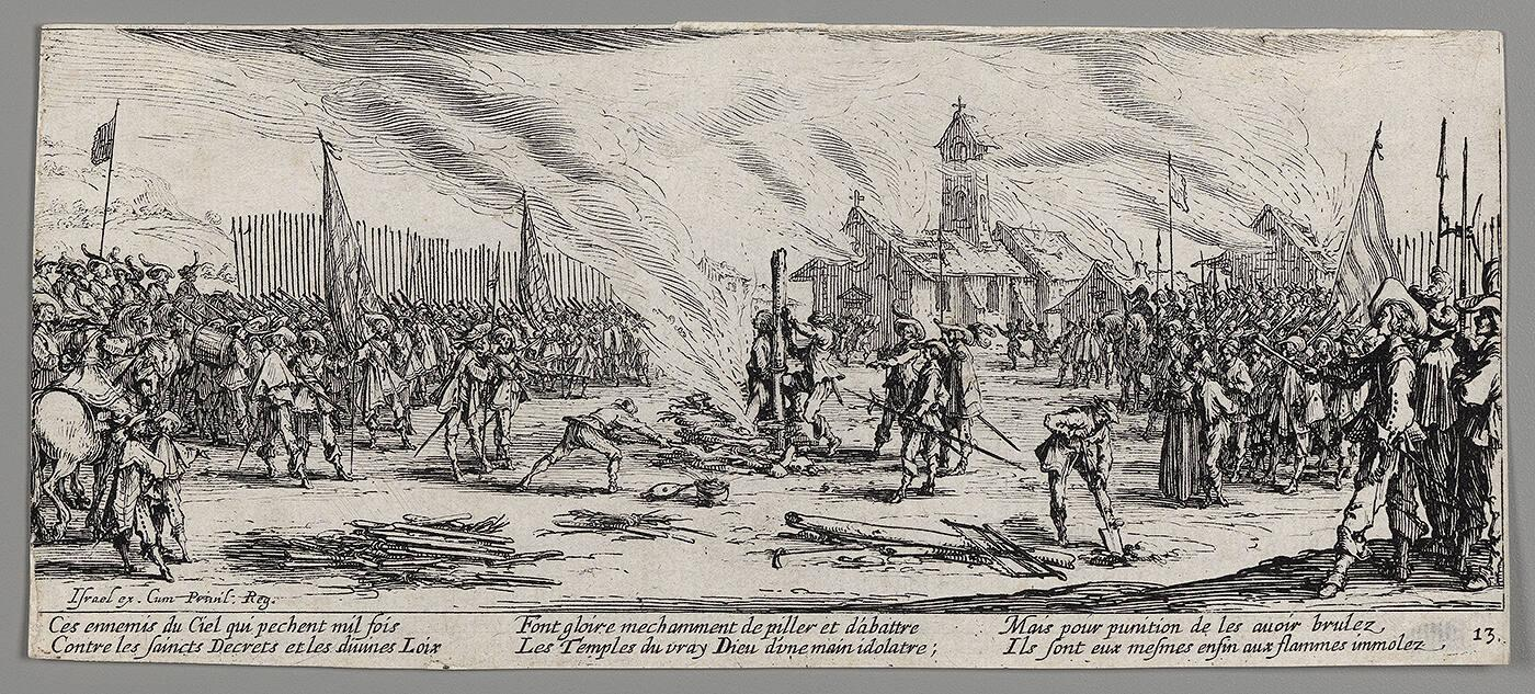 "The Burning at the Stake (from ""Grand Miseres et Malheurs de la Guerre"")"