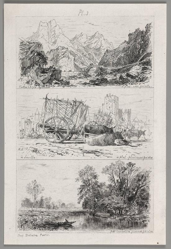 Three landscapes on one plate (Plate 3)