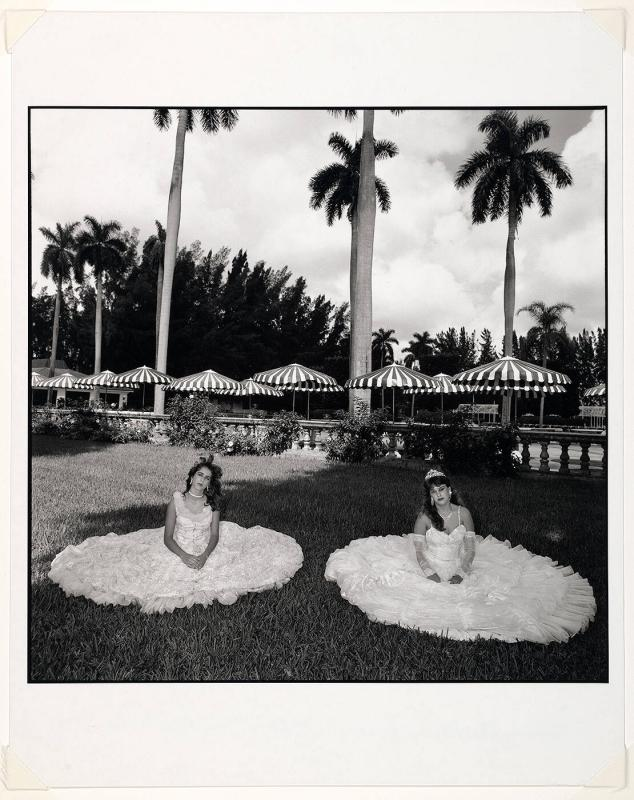 "Two Girls in Dresses on Lawn, Miami (from ""In America"")"