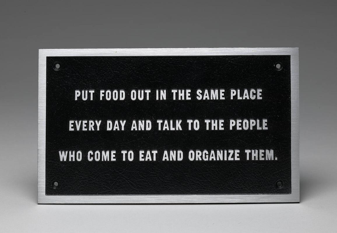 SURVIVAL: PUT FOOD OUT IN THE SAME PLACE EVERY DAY AND TALK TO THE PEOPLE WHO COME TO EAT AND ORGANIZE THEM