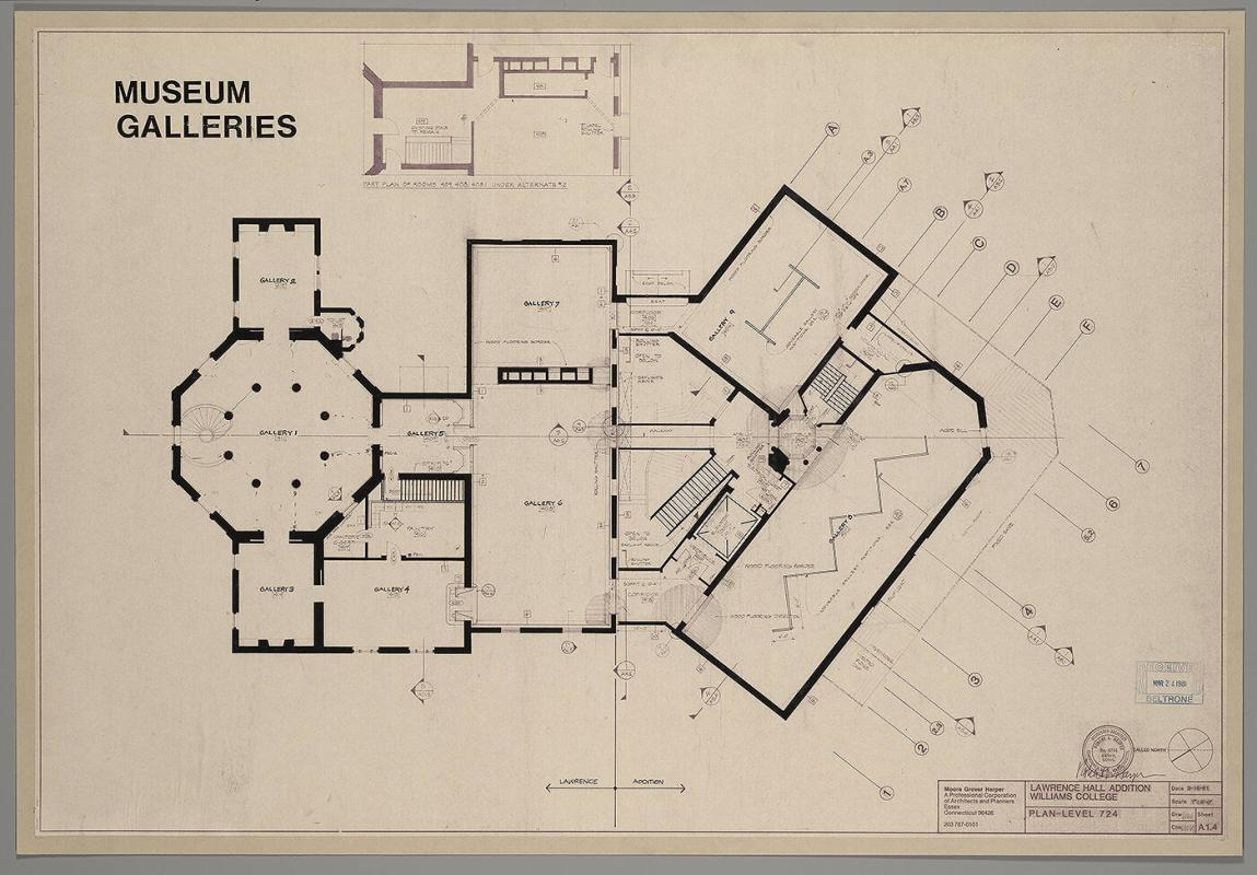 Museum Galleries, Lawrence Hall Addition Plan Level 724
