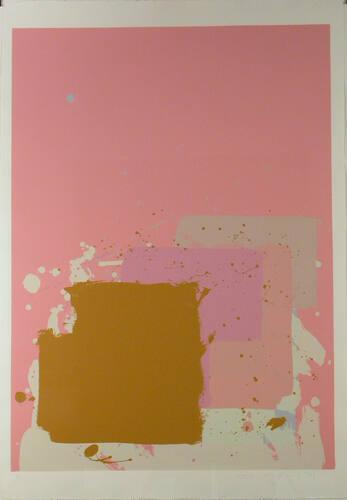 Brown Block on Pink (from the New York Suite)
