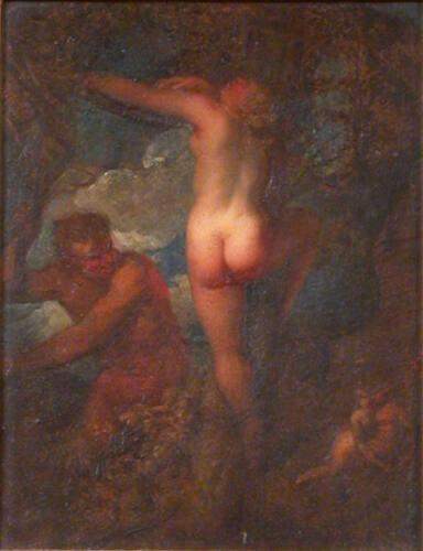 A Satyr Whipping a Nymph