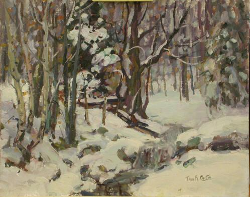 Winter Landscape with Birches